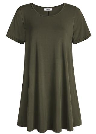 a3e7ceba Esenchel Women's Tunic Top Casual T Shirt for Leggings at Amazon ...