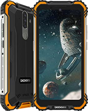 Móvil Resistente, DOOGEE S58 Pro Smartphone 4G Android 10, Cámara Triples 16MP Cámara Frontal 16MP, 6GB+64GB-SD 256GB, 5180mAh, 5.7 Pulgada IP68/IP69K Teléfono Móvil Libre Antigolpes, NFC/GPS, Naranja: Amazon.es: Electrónica