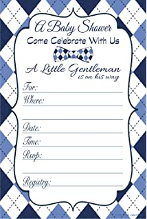 Little Man Boy Baby Shower Invitations   Fill In Style (20 Count) With  Envelopes