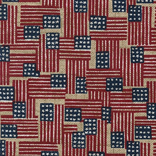 "Longaberger 10"" Generations Basket Old Glory Fabric Liner Over the Edge New In Bag"