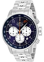 Invicta Mens S1 Rally Quartz Stainless Steel Casual Watch, Color:Silver-