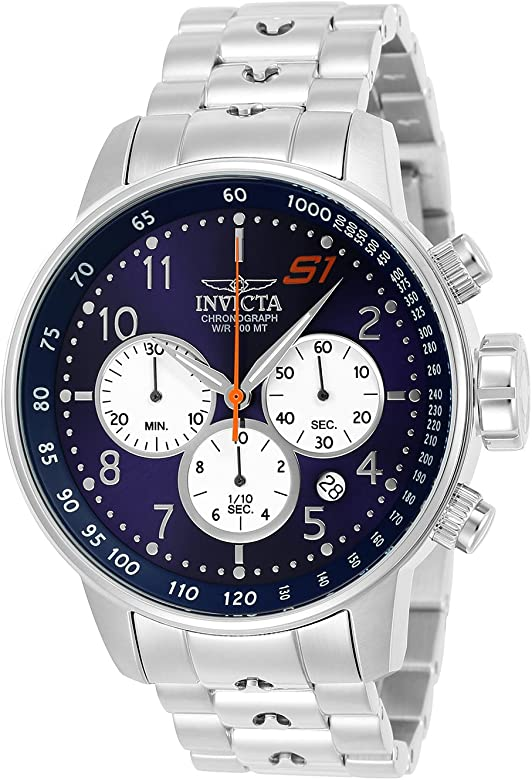 Invicta Men S1 Rally Quartz Watch with StainlessSteel Strap Silver 22 Model 23080
