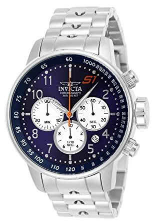 c958be129 Invicta Men's S1 Rally Quartz Watch with Stainless-Steel Strap, Silver, 22 (