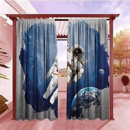 Amazon.com: AndyTours - Cortina de ventana con diseño de ...