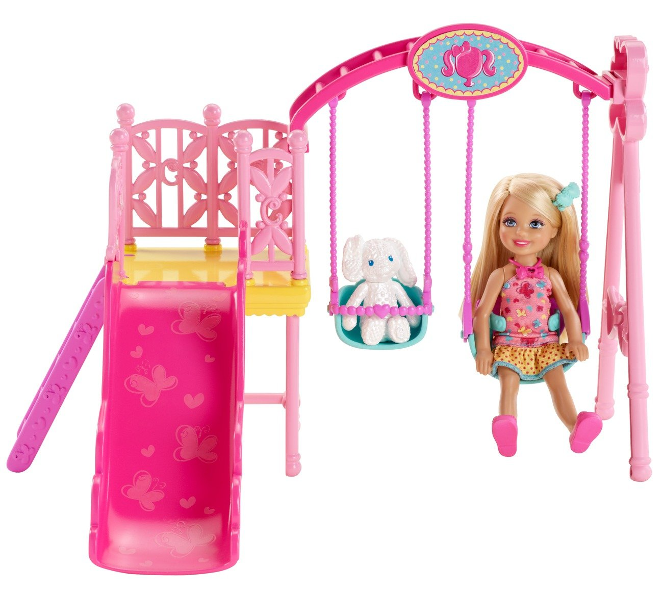 . Amazon com  Barbie Sisters Chelsea Swing Set  Toys   Games