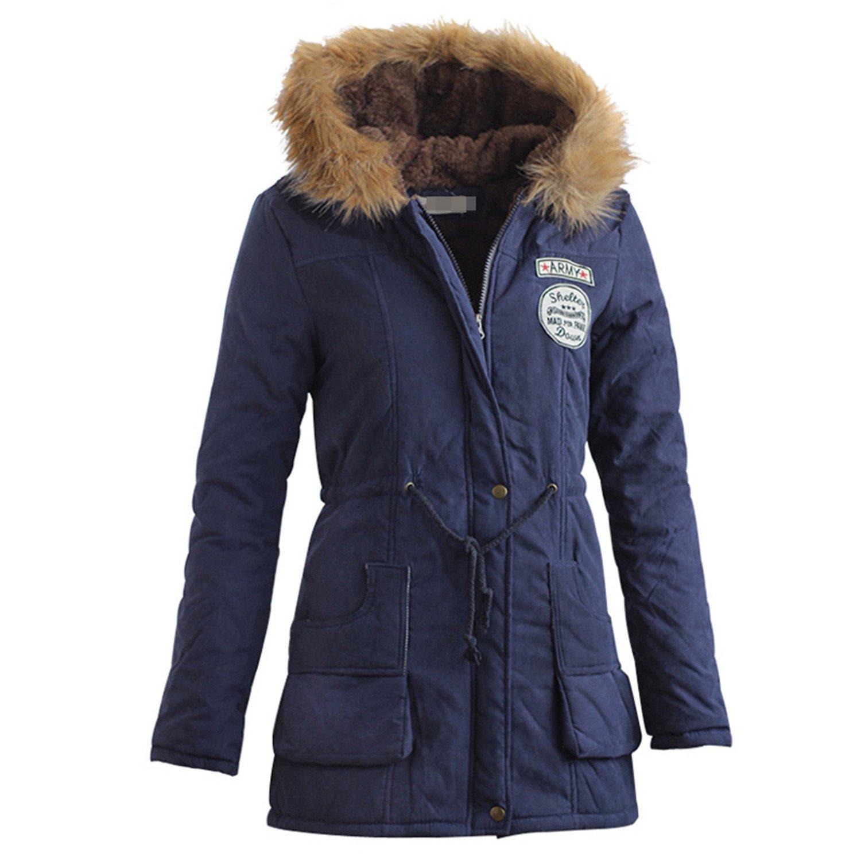 Amazon.com: dapengzhu Mujer Abrigos moda otoño cálido ...