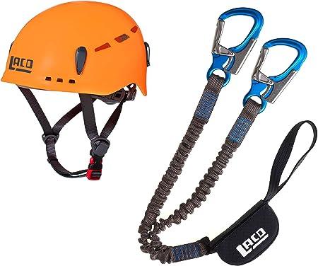 LACD Pro Evo 2.0 - Set de escalada y casco protector 2.0 naranja neón