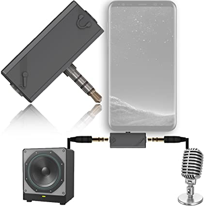 3 5mm Audio Splitter 4-Pole (TRRS) Male to 2x 3-Pole (TRS) Female to  connect external Microphone and Speaker for iPhone, Samsung, Mac, PS4, Xbox  One,