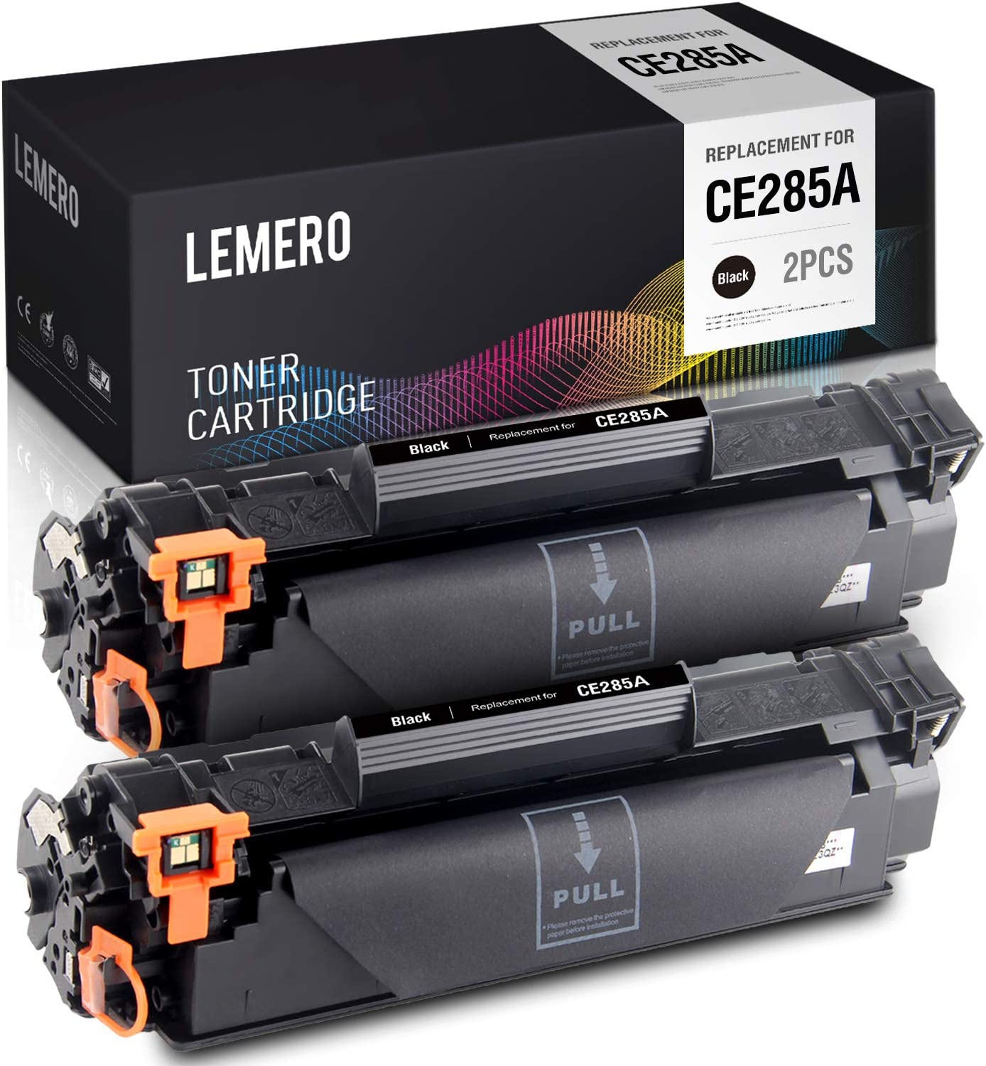 LEMERO Compatible Toner Cartridge Replacement for HP 85A CE285A - for HP Laserjet Pro P1102W P1109W M1132 M1212NF M1217NFW MFP Printer (Black, 2 Pack)