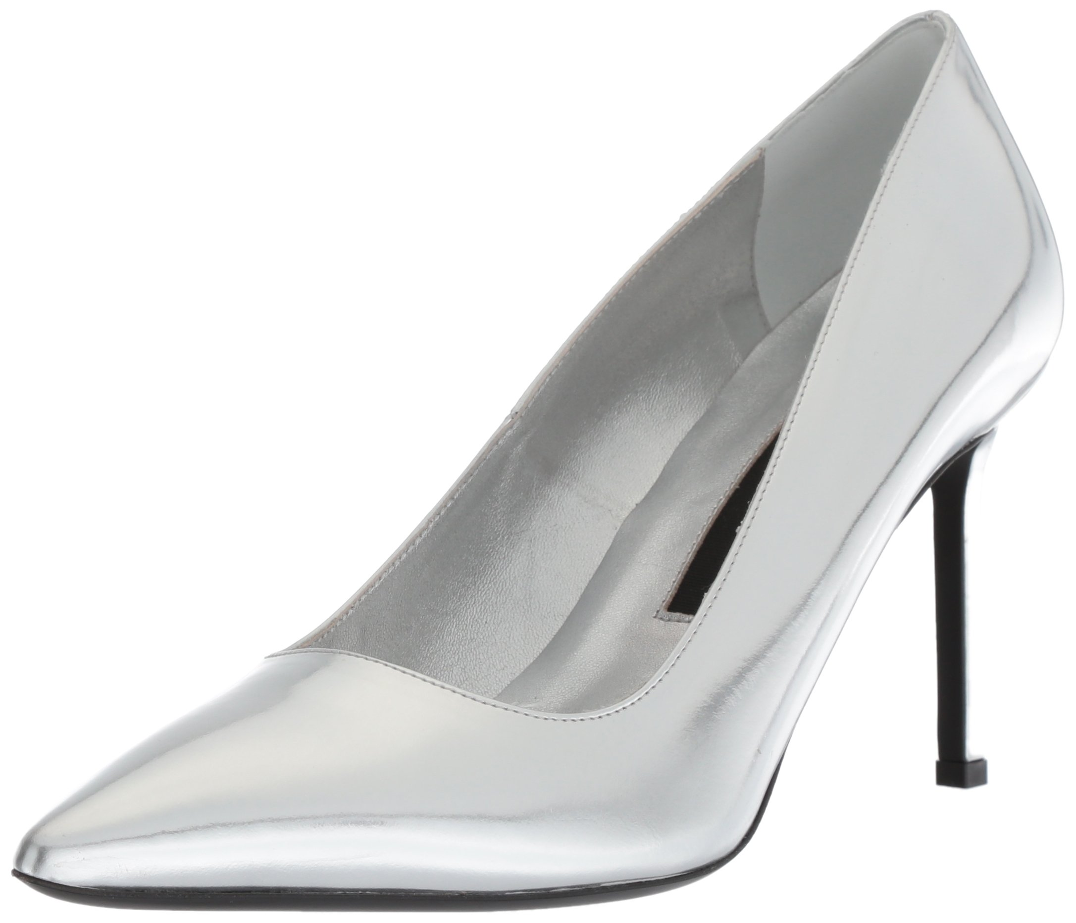 Via Spiga Women's Nikole Pump, Silver/Metallic, 5.5 Medium US
