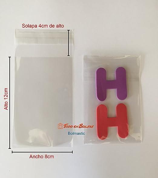 Bolsa de Polipropileno con Solapa Adhesiva de 8 x 12 cm (1000 Unidades)