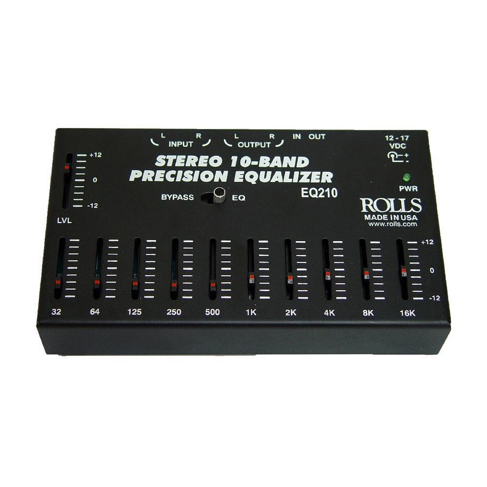 Rolls EQ210 10-Band Graphic Equalizer