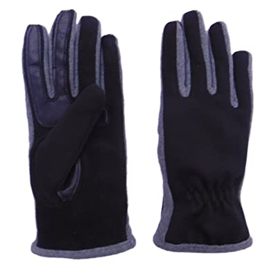 isotoner Active Smart Touch Womens Black /& Gray SmarTouch Tech Stretch Gloves
