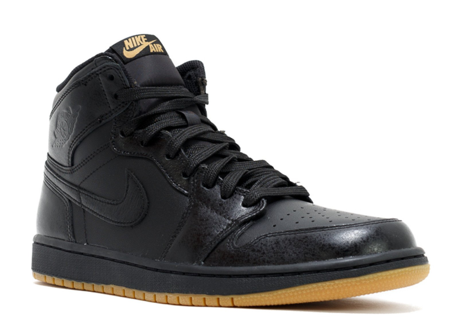 NIKE Air Jordan 1 Retro High OG (Black/Black-Gum Light Brown) (11.5)