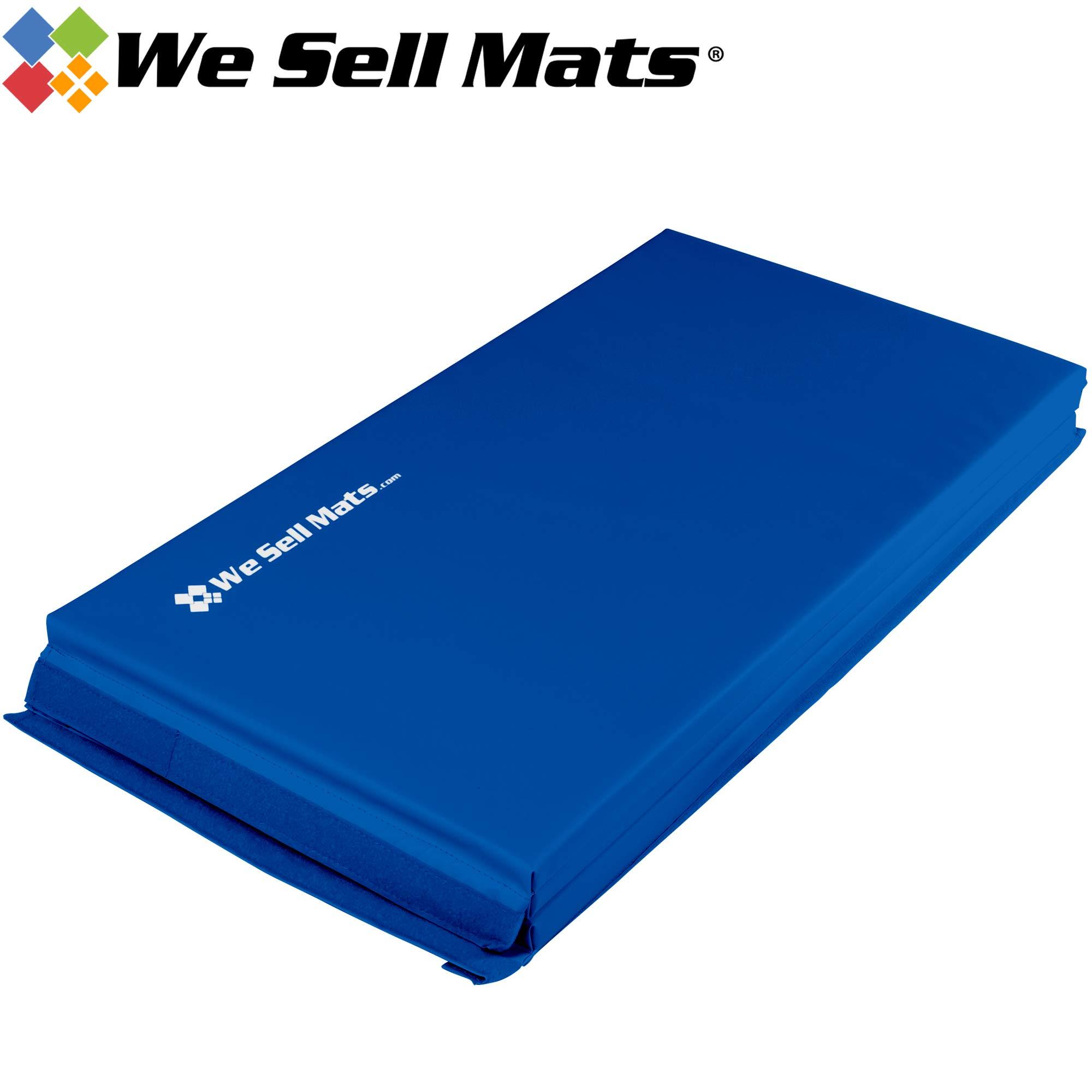 We Sell Mats Thick Gymnastics Tumbling Exercise Folding Mat, Blue, 4' x 6' x 1.5''