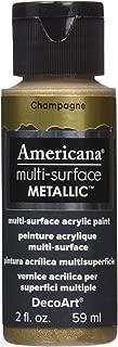 product image for DecoArt DA554-30 Americana Multi-Surface Metallic Paint, 2-Ounce, Champagne