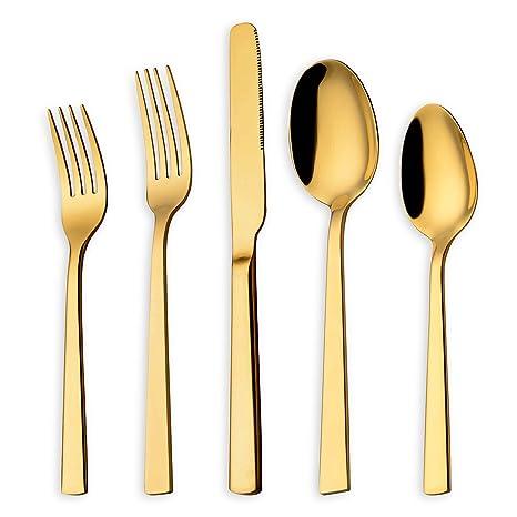 Amazon.com: homquen cuchillos, tenedores, cucharas cubiertos ...