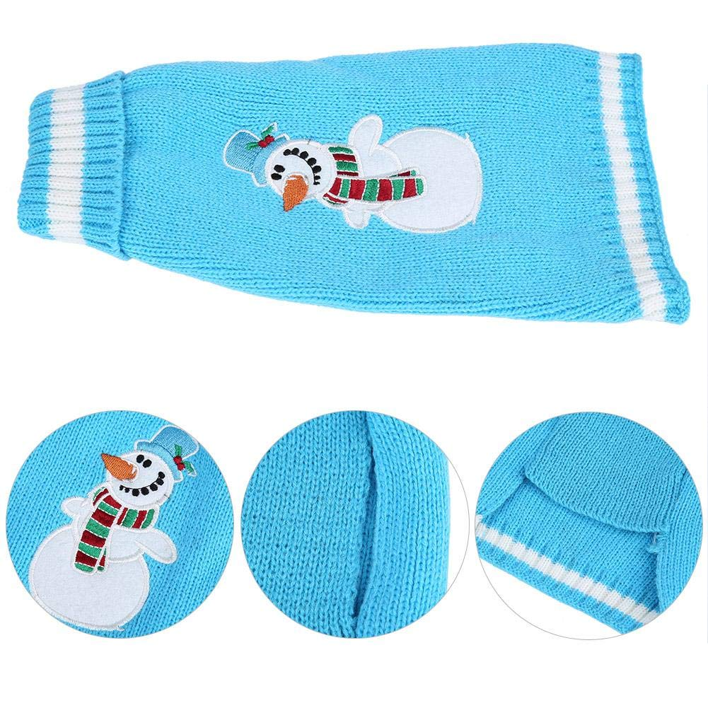 XXS Christmas Blue Snowman Sweater for Large Dogs Winter Warm Clothes Beautytop Pet Dog Cat Sweater