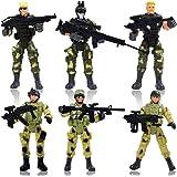 YIJIAOYUN 6 Pcs Grande Figurine d'action Jouet de Soldats avec Arme / Figures Militaires Ensembles
