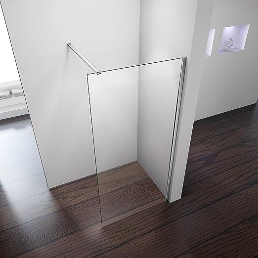 Mampara de ducha, de cristal, fácil de limpiar y barra de apoyo, 900mm width x 1850mm high+a classical support bar: Amazon.es: Hogar