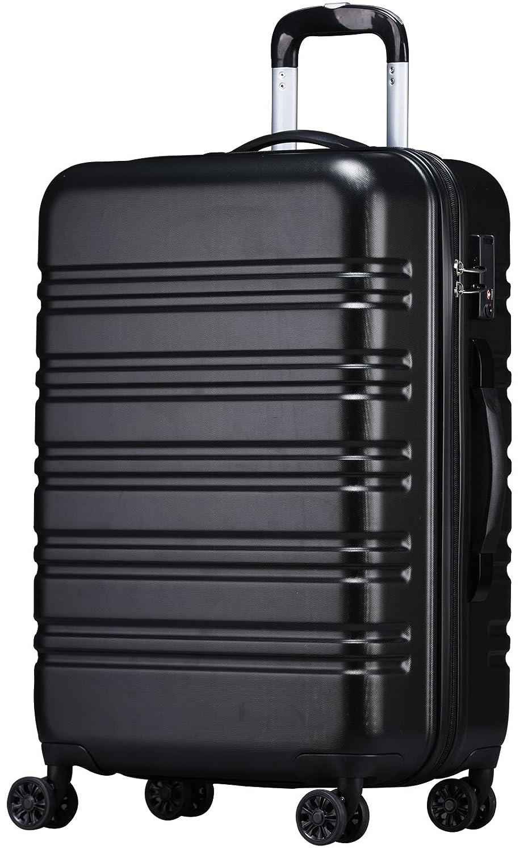 [luckypanda(ラッキーパンダ)] TSAロック搭載 スーツケース TY8098 機内持ち込み可 B0756Y8KZB L|ブラック ブラック L