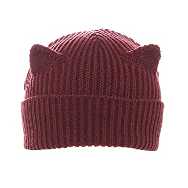 88208c288 Faina Knit Winter Hat, Burgundy Cat at Amazon Women's Clothing store: