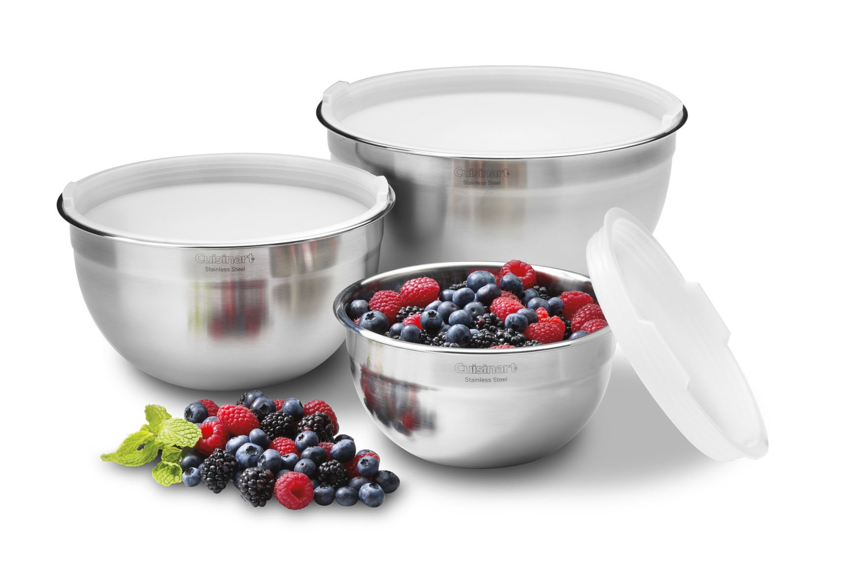 Cuisinart CTG-00-SMB Stainless Steel Mixing Bowls with Lids, Set of 3 by Cuisinart (Image #2)