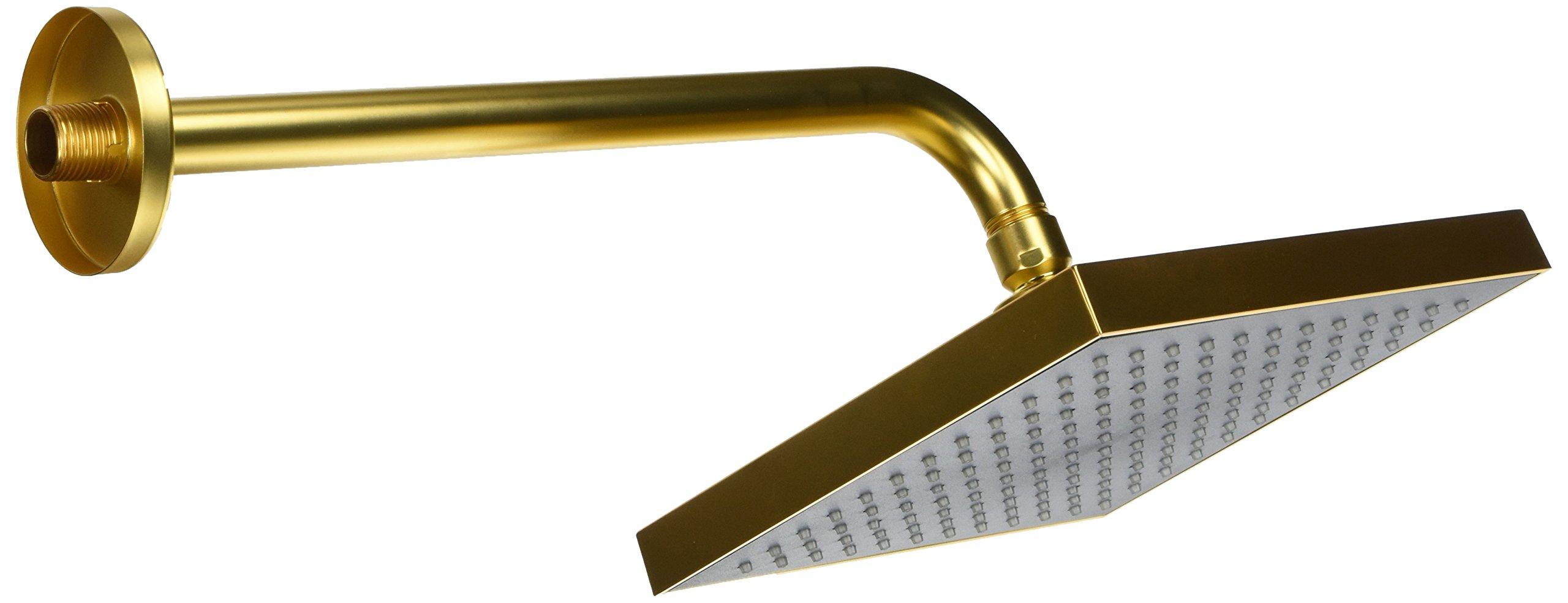 La Toscana 89OK750 Lady Square Shower Head, Satin Gold by La Toscana