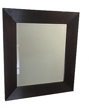 Miroir Miroir Mural 44x144 Cadre Bois Finition Blanc Shabby