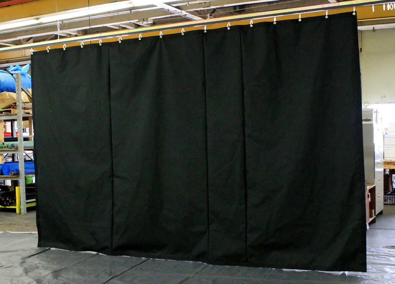 Amazon Black Stage Curtain Backdrop Partition 15 H X 30 W Non FR Custom Sizes Available Home Kitchen