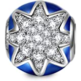 NINAQUEEN Twinkle Star Mothers Day Gifts for Mom 925 Sterling Silver Gemstone Dark Blue Bead Charms Fit for Bracelet…