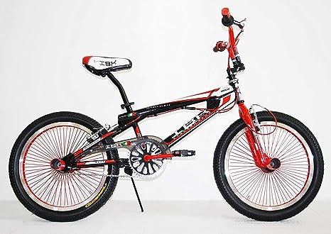 Ibk Bici Bicicletta 20 Bmx Freestyle Sterzo 360 Rossa Amazonit
