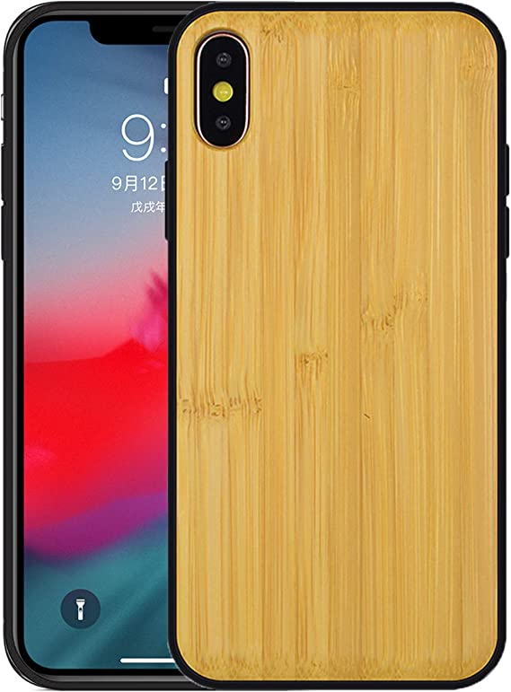 Wood iPhone XR Rubber Cell Phone Case