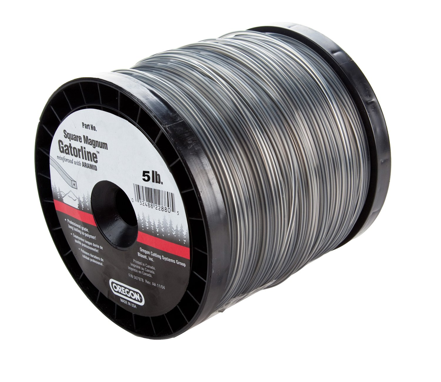 Oregon 22-095 Gatorline Heavy-Duty Professional Magnum 5-Pound Spool of .095-Inch-by-1134-Foot Square-Shaped String Trimmer Line by Oregon