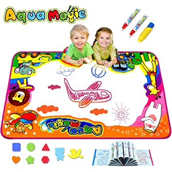 Buy Ubetoone Aqua Magic Mat Kids Toys Water Doodle Drawing Pad Large For Boys Girls Toddlers Gift Size 34 6 X 22 8 Online At Low Prices In India Amazon In