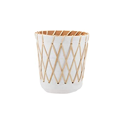 Foreside Home and Garden Foreside Home & Garden Planter Rattan Woven, Large: Home & Kitchen