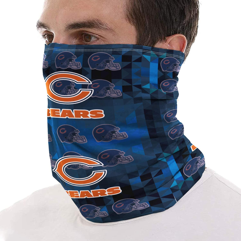 Football Team Logo Neck Gaiter Sports Fans Bandana Outdoor Headwear Scarf Face Mask Sun Protection Headband