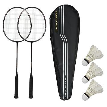 VICTOR Badmintonschl/äger-Set mit Tragetasche f/ür 2 Spieler