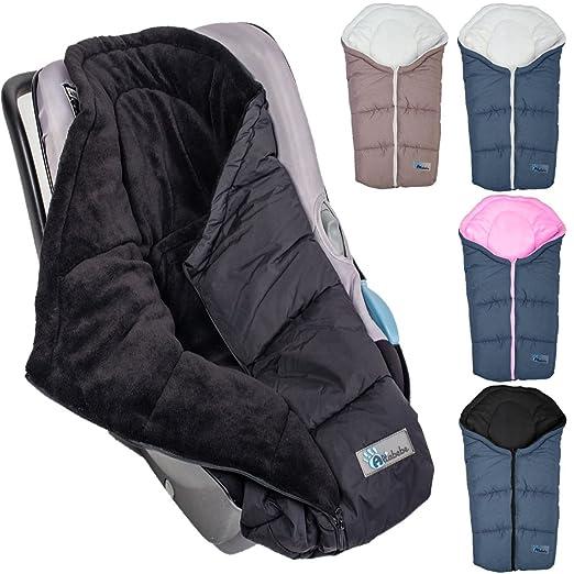 Winterfußsack Baby Fußsack Melange Für Babyschale Autobabyschale Kinderwagen Dunkelgrau Rosa Baby