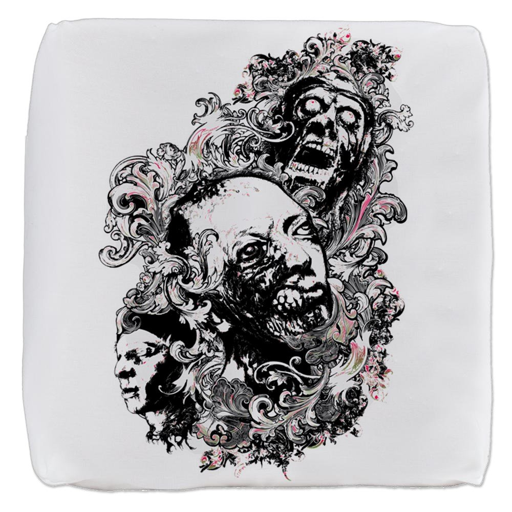 13 Inch 6-Sided Cube Ottoman Zombie Apocalypse by Royal Lion (Image #1)