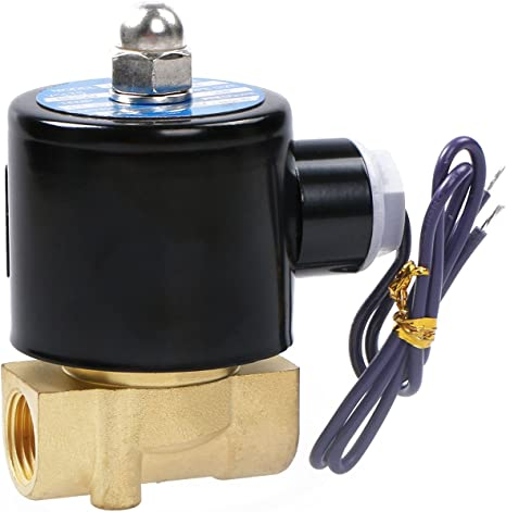 fivekim Electrovanne normalement ferm/ée 12V DC 1//8W//Fil pour Eau air gaz Aluminium Electrovanne normalement ferm/ée