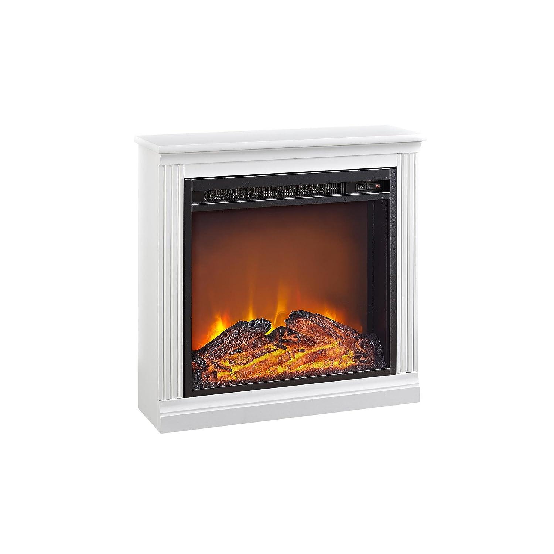 Amazon.com: Ameriwood Home Bruxton Simple Fireplace, White: Kitchen ...