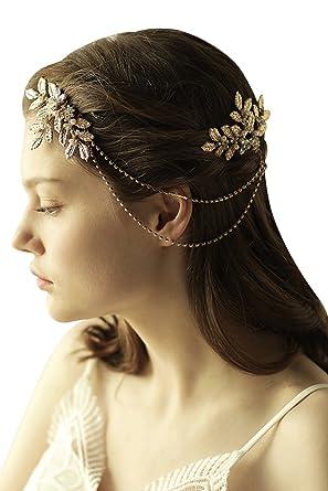 Amazon Com 2pcs Bridal Rhinestone Hair Accessories Women Prom Party
