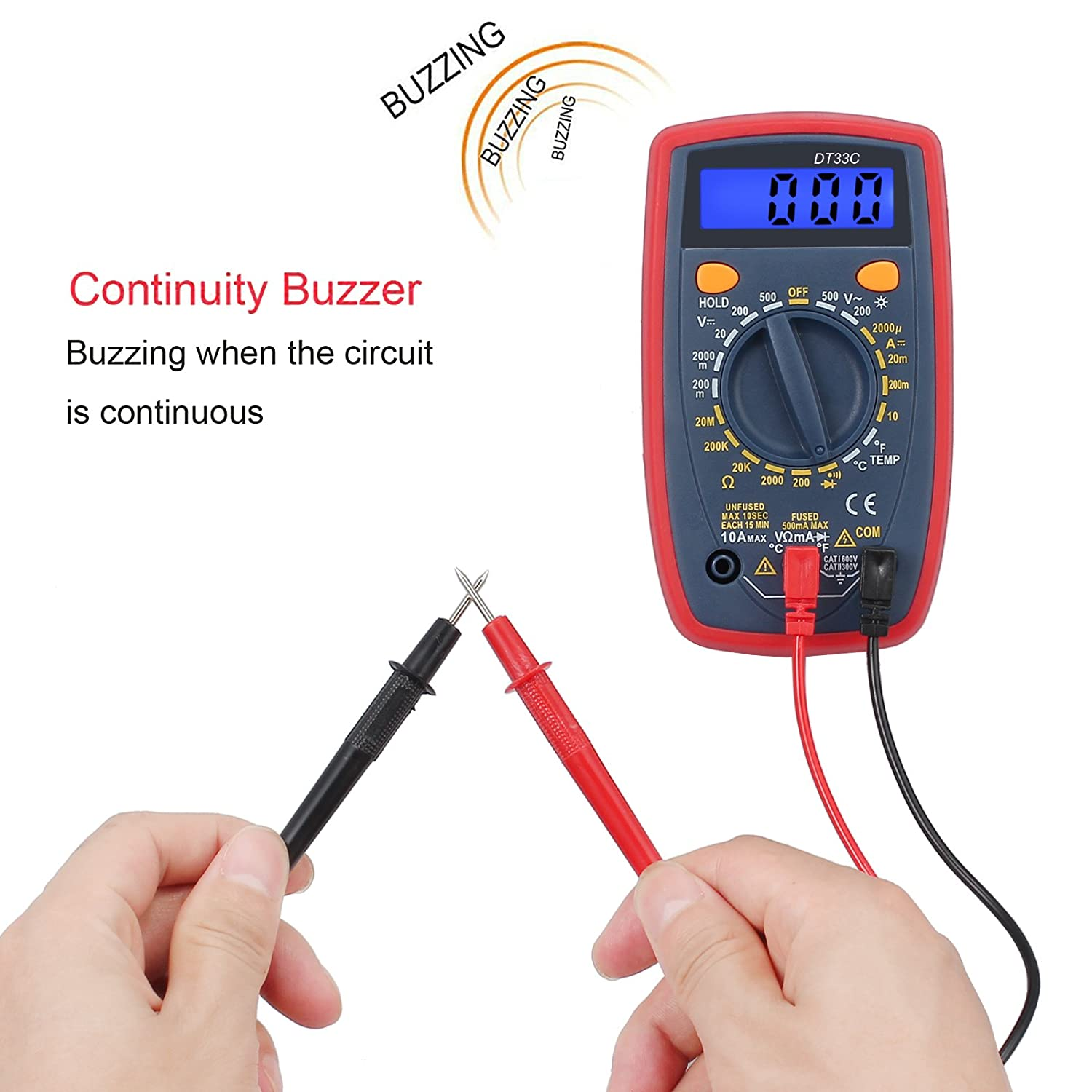 Proster Digital Multimeter 1999 Portable Multi Tester With Test Lcd Ac Dc Voltmeter Ammeter Ohm Circuit Checker Leads Mini Ohmmeter Backlight