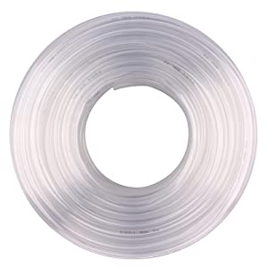 Clear Vinyl Tubing - 1/2 in ID 5/8 in OD PVC Tube Food Grade Flexible Plastic Pipe Hose for Homebrewing, Siphon Pump 30.5 Meters(100ft) Length