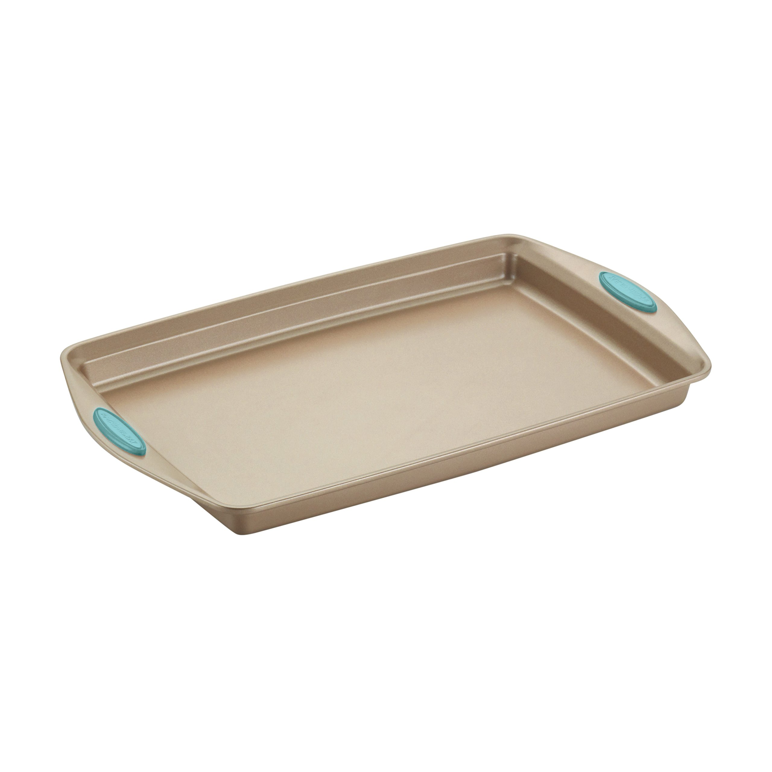 Rachael Ray Nonstick Bakeware 5-Piece Set, Latte Brown with Agave Blue Handle Grips by Rachael Ray (Image #9)