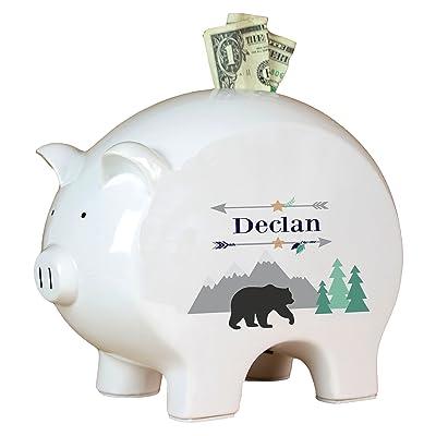 Personalized Mountain Bear Piggy Bank : Baby