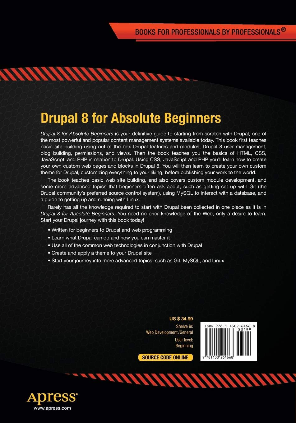 Drupal 8 for Absolute Beginners: James Barnett