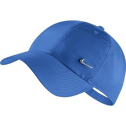 Nike Unisex Heritage 86 Metal Swoosh Cap (Industrial Blue)  Amazon.in   Sports 084dc0b31f4b