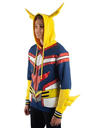 Bioworld My Hero Academia All Might Character Hoodie Small